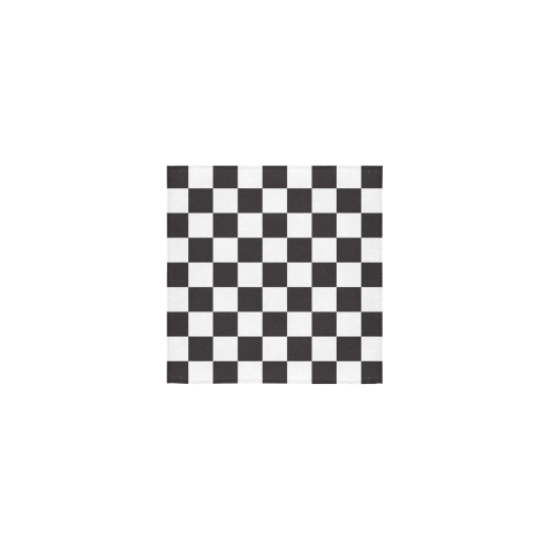 "Checkerboard Black and White Squares Square Towel 13""x13"""