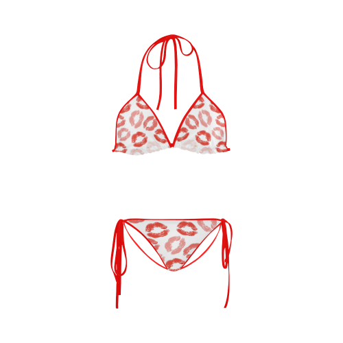 kiss background Custom Bikini Swimsuit