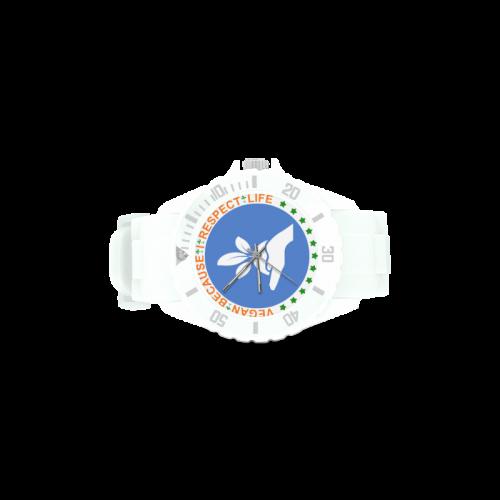 VEGAN RESPECT LIFE Sport Rubber Strap Watch(Model 301)