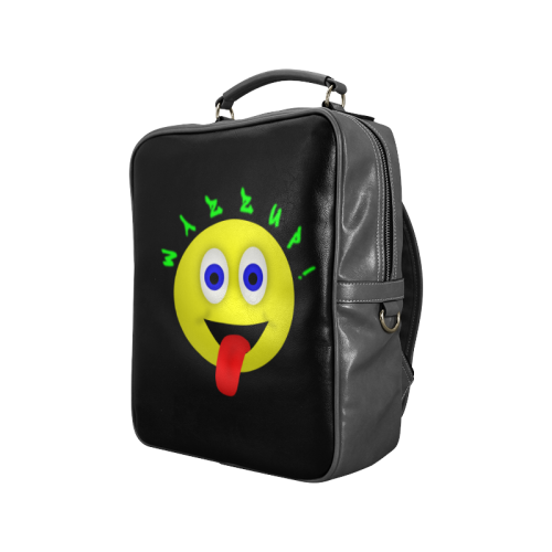 Wazzup Funny Smiley Square Backpack (Model 1618)