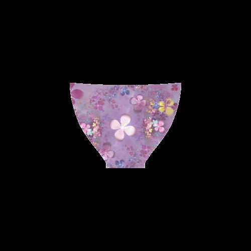 Modern abstract fractal colorful flower power Custom Bikini Swimsuit