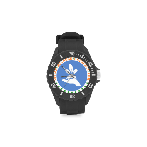 VEGAN RESPECT LIFE Sport Rubber Strap Watch(Model 301)
