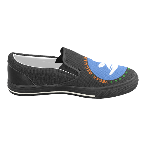 VEGAN RESPECT LIFE Women's Unusual Slip-on Canvas Shoes (Model 019)