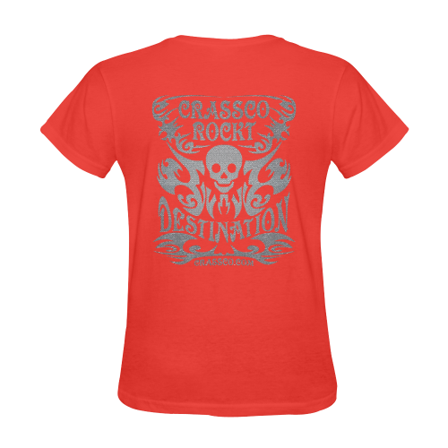SKULL SILVER OPTICS Sunny Women's T-shirt (Model T05)