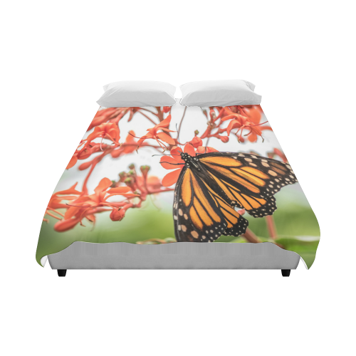"Monarch Butterfly Dreams Duvet Cover 86""x70"" ( All-over-print)"