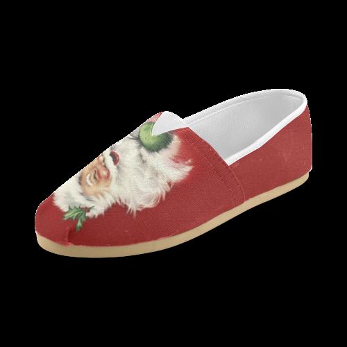 A beautiful vintage santa claus Unisex Casual Shoes (Model 004)