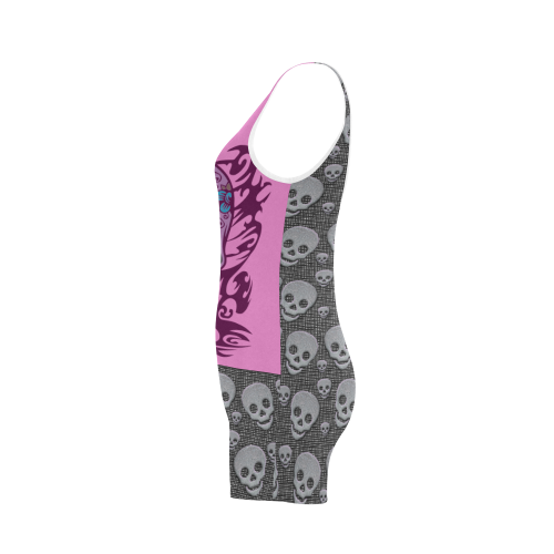 SKULL PINKY TWO Classic One Piece Swimwear