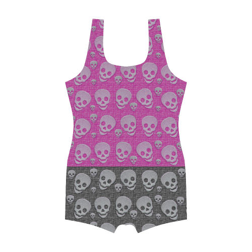 SKULLS DUO Classic One Piece Swimwear (Model S03)