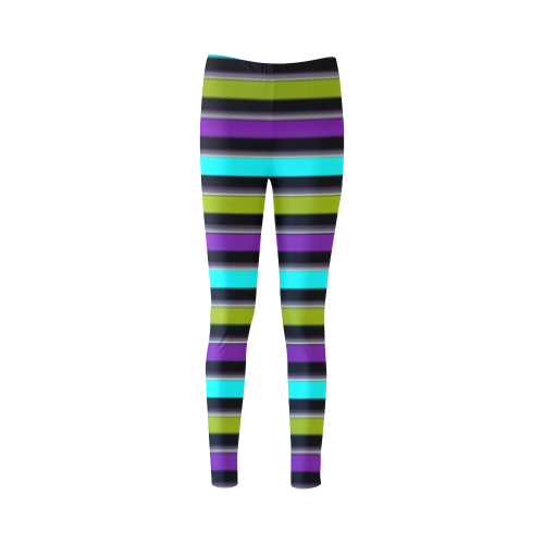 retro stripe 1 Cassandra Women's Leggings (Model L01)