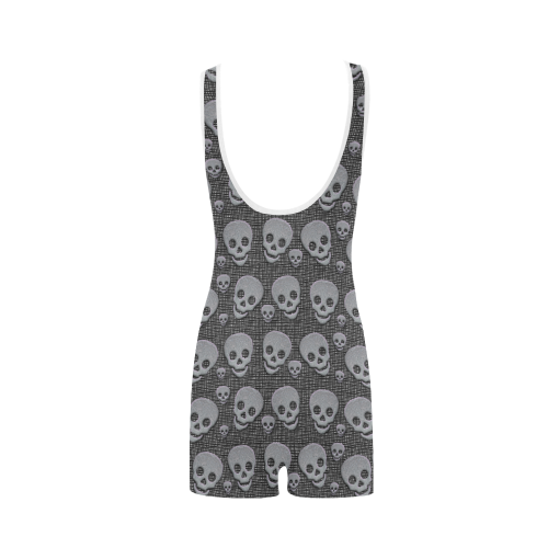 SKULL PINKY TWO Classic One Piece Swimwear (Model S03)