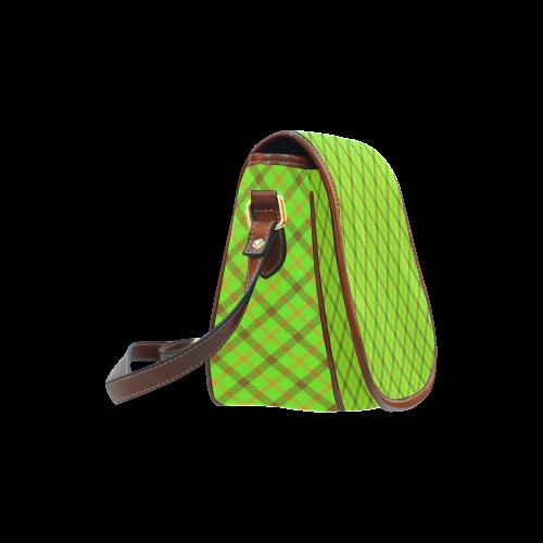 Tami Kaye Plaid / Tartan Saddle Bag/Large (Model 1649)