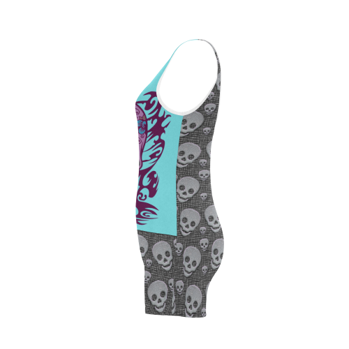 SKULL BLUE Classic One Piece Swimwear (Model S03)