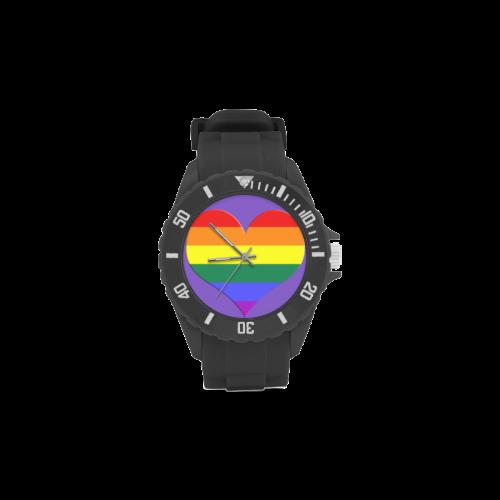 GAY HEART Sport Rubber Strap Watch(Model 301)