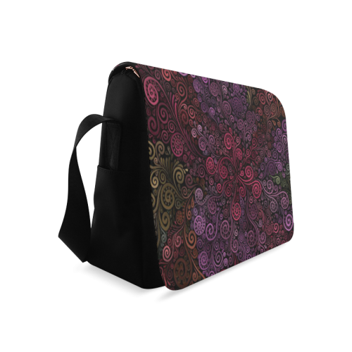 Psychedelic 3D Rose Messenger Bag (Model 1628)