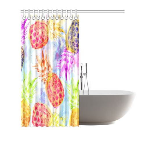 """Pineapples Shower Curtain 66""""x72"""""""