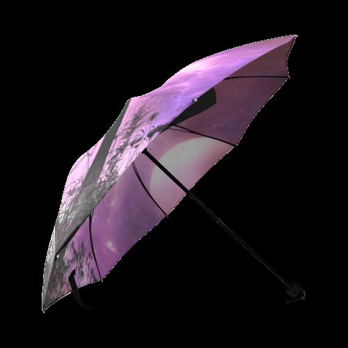 Cute dancing fairy in the night Foldable Umbrella (Model U01)