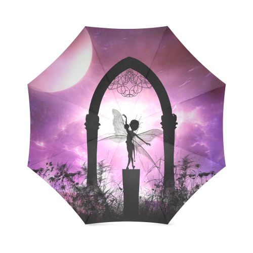 Cute dancing fairy in the night Foldable Umbrella