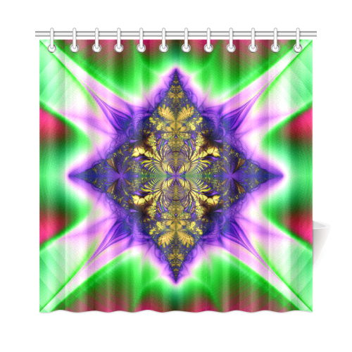 "Colorful Kaleidoscope Flower Shower Curtain 72""x72"""