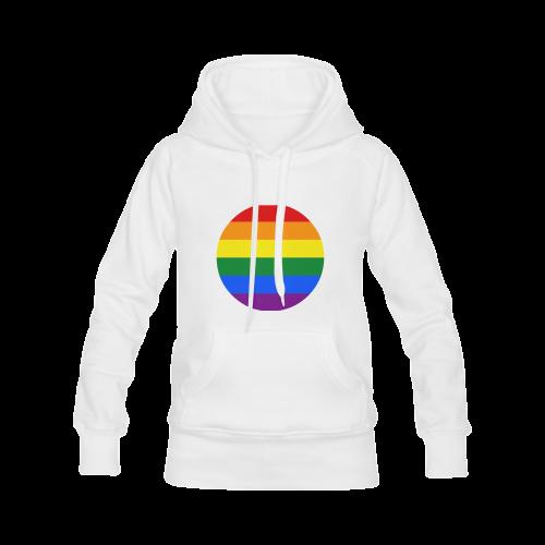 Gay Pride Rainbow Flag Stripes Men's Classic Hoodies (Model H10)