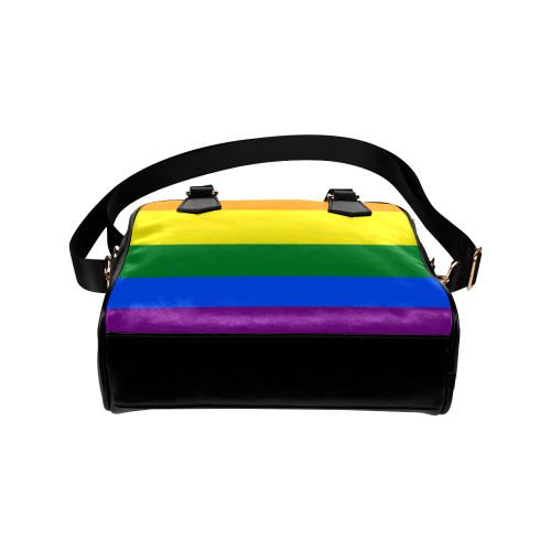 Gay Pride Rainbow Flag Stripes Shoulder Handbag (Model 1634)