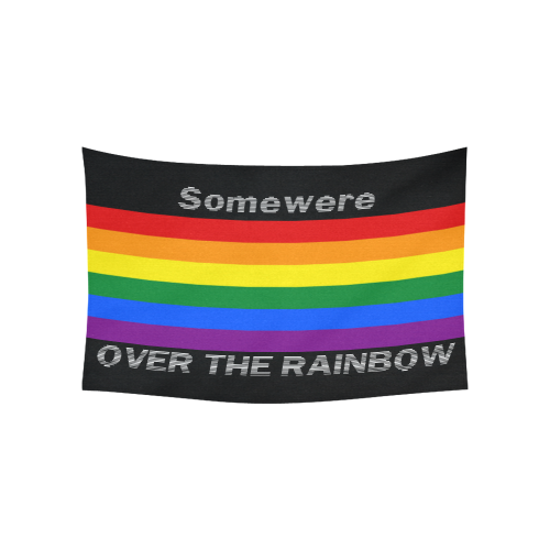 """Gay Pride Rainbow Flag Stripes Cotton Linen Wall Tapestry 60""""x 40"""""""
