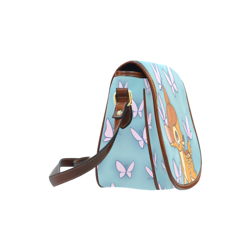 Deer and Butterflies Saddle Bag/Small (Model 1649) Full Customization