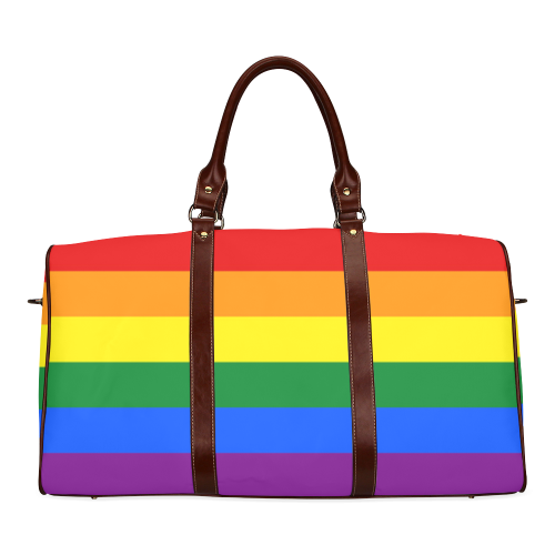 Gay Pride Rainbow Flag Stripes Waterproof Travel Bag/Large (Model 1639)