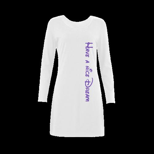 Message: Have a nice dream Demeter Long Sleeve Nightdress (Model D03)