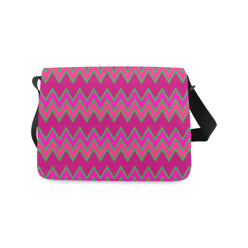 Chevron Colours QQ Messenger Bag (Model 1628)