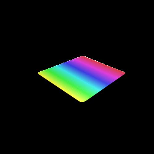 Crayon Box Ombre Rainbow Square Coaster