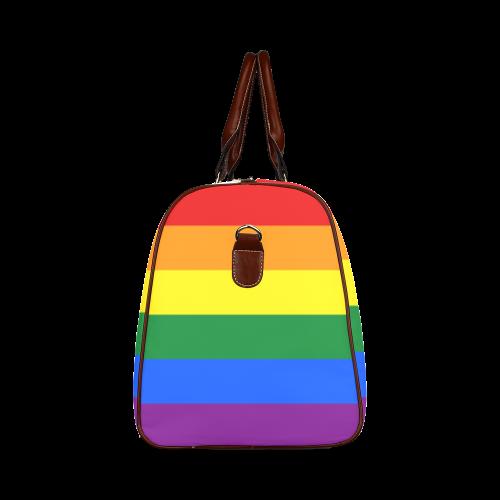 Gay Pride Rainbow Flag Stripes Waterproof Travel Bag/Small (Model 1639)