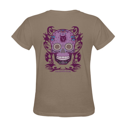 SKULL MULTICOLOR Sunny Women's T-shirt (Model T05)