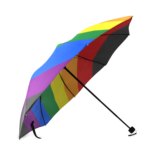 Gay Pride Rainbow Flag Stripes Foldable Umbrella (Model U01)