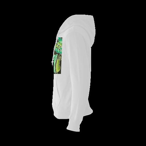 Irish Garden, Lime Green Flowers Dance in Joy Oceanus Hoodie Sweatshirt (Model H03)