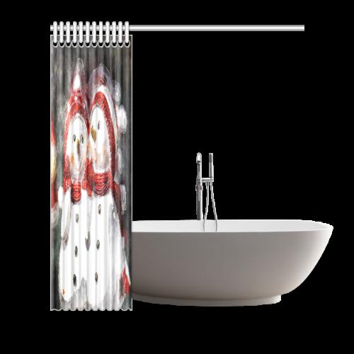 "Snowman20160602 Shower Curtain 72""x72"""