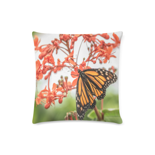 """Monarch Butterfly Dreams Custom Zippered Pillow Case 16""""x16""""(Twin Sides)"""