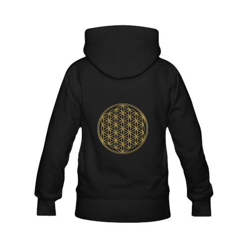FLOWER OF LIFE gold Men's Classic Hoodies (Model H10)