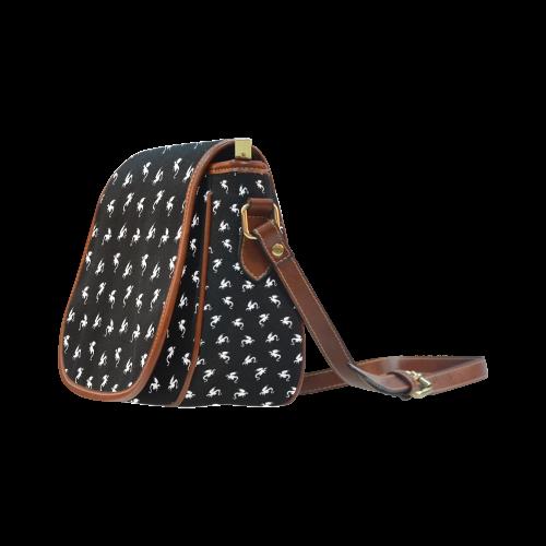 Little Dragon Pattern Saddle Bag/Small (Model 1649) Full Customization