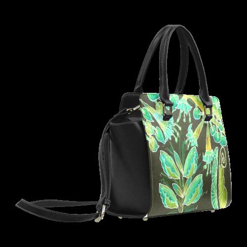 Irish Garden, Lime Green Flowers Dance in Joy Classic Shoulder Handbag (Model 1653)