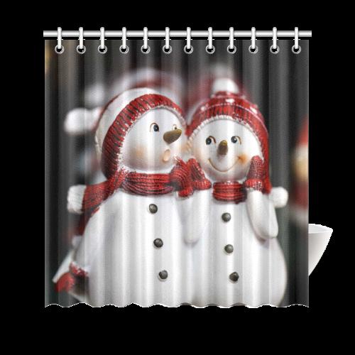 "Snowman20160601 Shower Curtain 69""x70"""