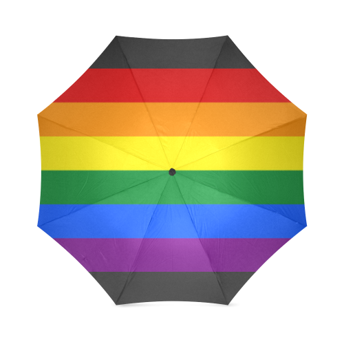 Gay Pride Rainbow Flag Stripes Foldable Umbrella