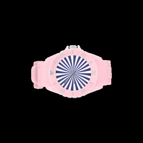 Blue Spiral Sport Rubber Strap Watch(Model 301)
