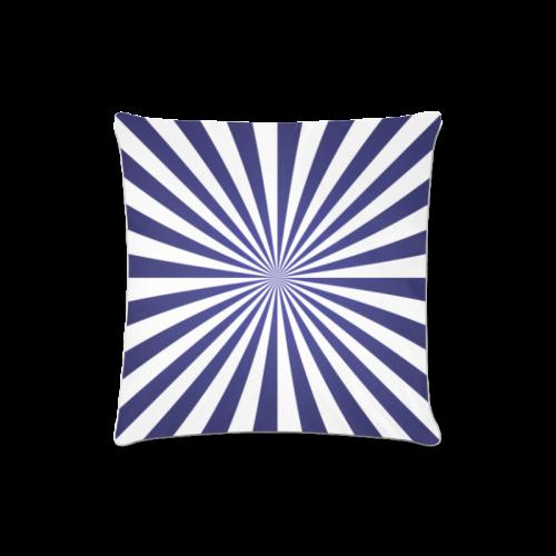 """Blue Spiral Custom Zippered Pillow Case 16""""x16""""(Twin Sides)"""