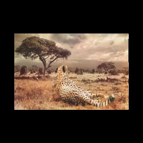"Savanna Cheetah Cotton Linen Wall Tapestry 90""x 60"""