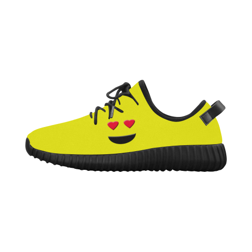 a72f2172f2df Emoticon Heart Smiley Grus Women s Breathable Woven Running Shoes (Model  022)