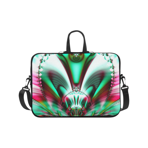 Sci-Fi Fractal Alien Architecture Laptop Handbags 17""