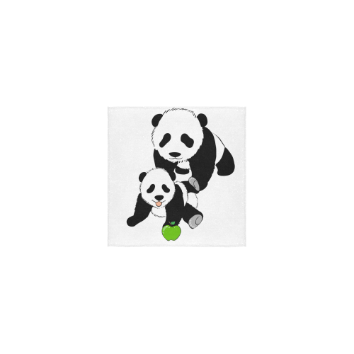 """Mother and Baby Panda Square Towel 13""""x13"""""""