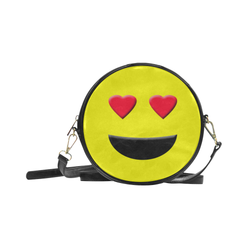 Emoticon Heart Smiley Round Sling Bag (Model 1647)