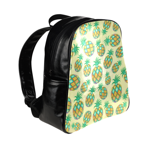 Pineapple Pastel Colors Pattern Multi-Pockets Backpack (Model 1636)