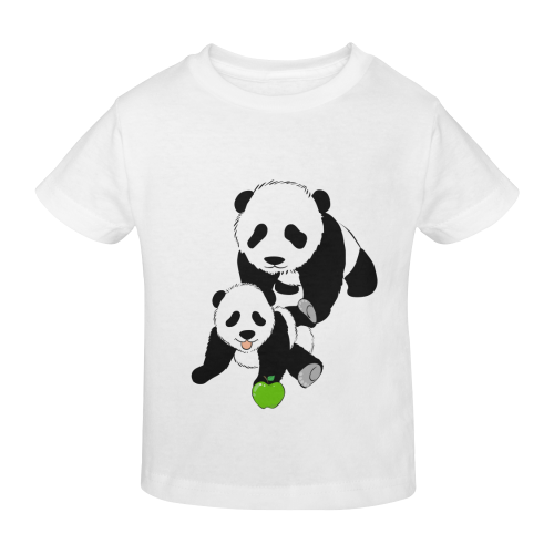 Mother and Baby Panda Sunny Youth T-shirt (Model T04)